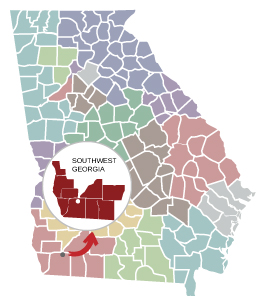 Map Of Southwest Georgia.Southwest Georgia